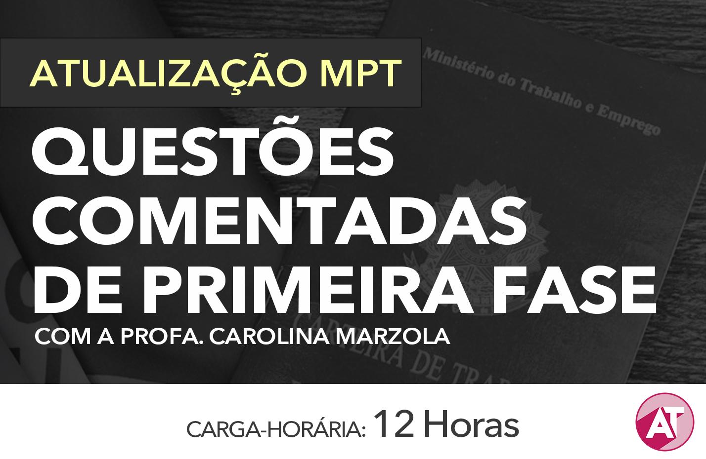 QUESTÕES COMENTADAS DE PRIMEIRA FASE