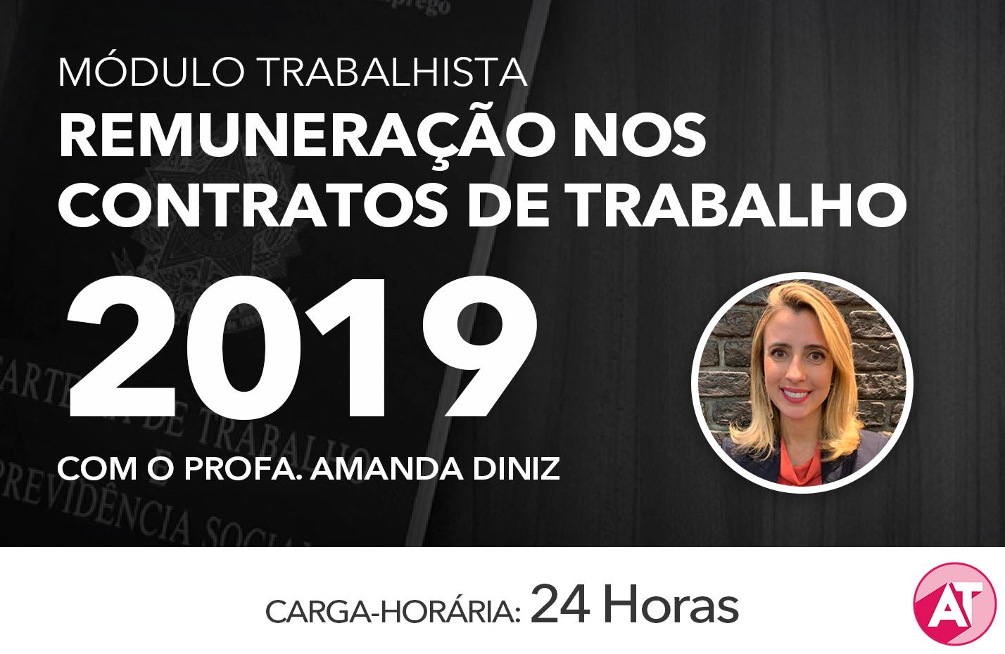 MÓDULO TRABALHISTA SOBRE REMUNERAÇÃO 2019 - ONLINE