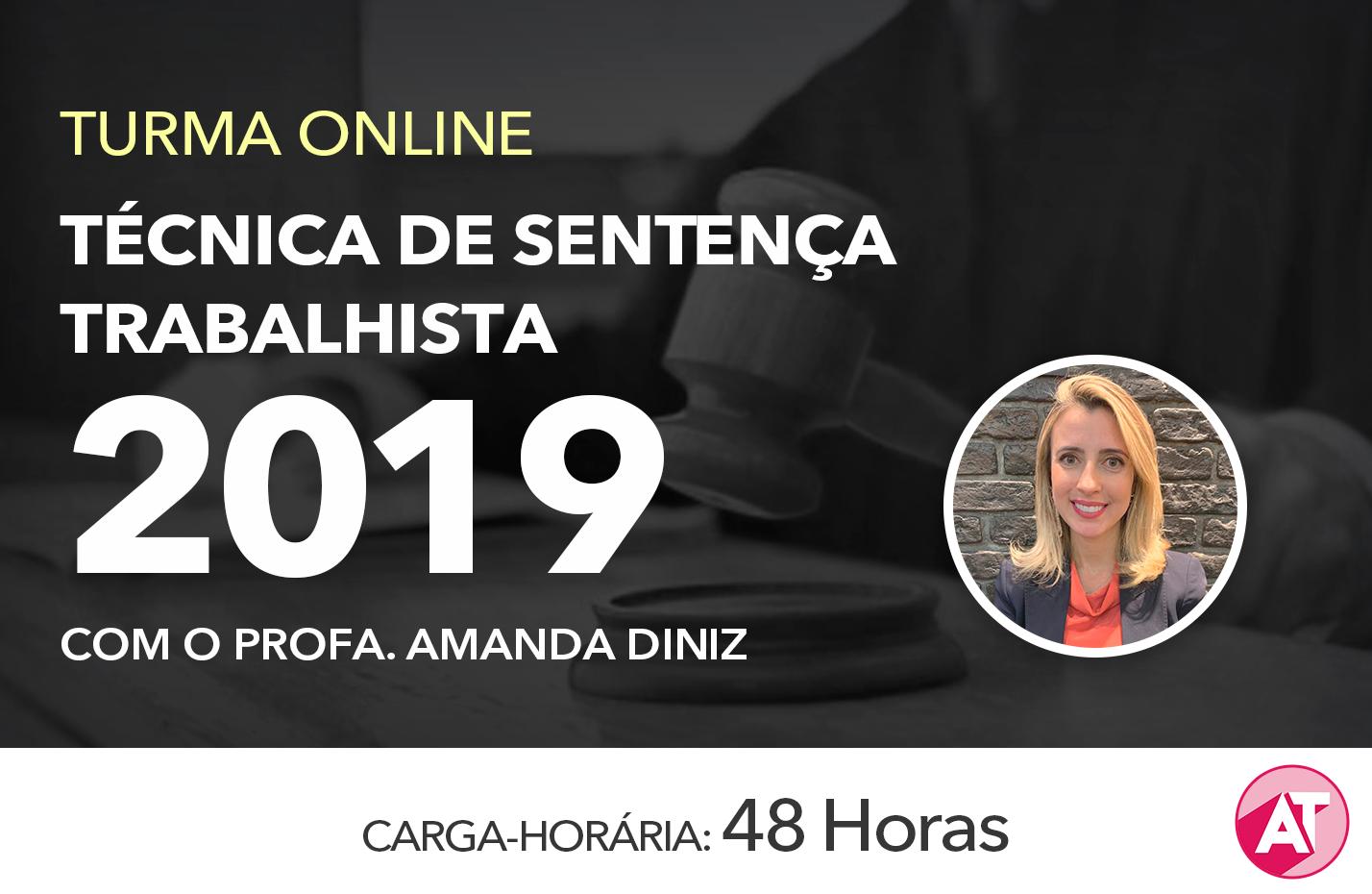TÉCNICA DE SENTENÇA TRABALHISTA 2019 ONLINE